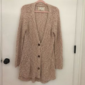 ANTHROPOLOGIE Angel of the North Button Cardigan